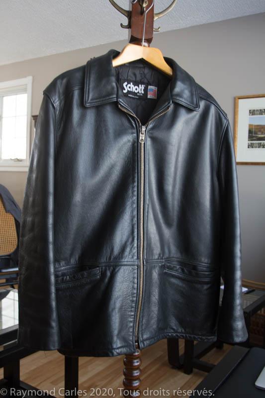 Schott black leather jacket