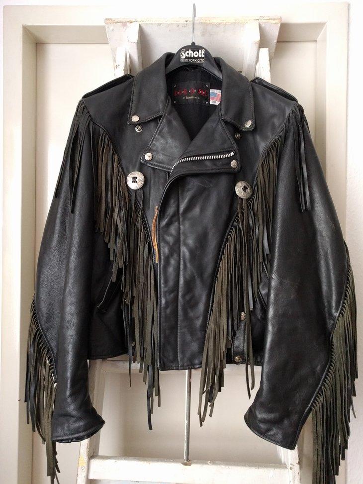 Schott Dur O Jac fringe jacket, size 38
