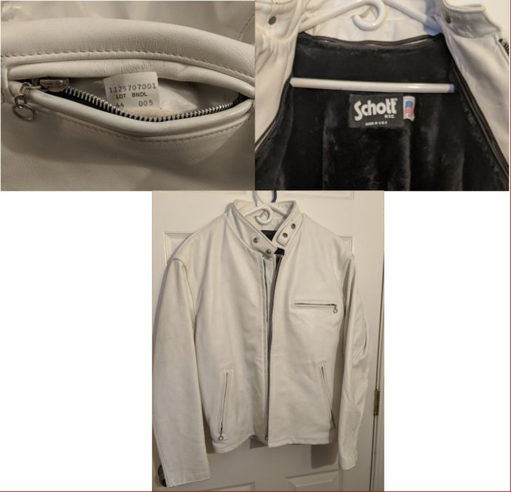 Images of tags and overall jacket