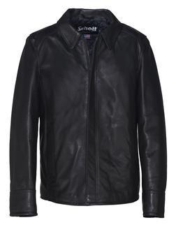 235 - Lightweight Natural Pebble Cowhide Leather Jacket (Black)