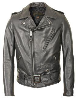 519 - Waxy Natural Cowhide 50's Perfecto Motorcycle Leather Jacket