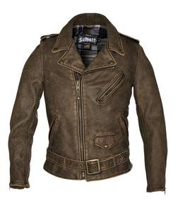 626VN - Vintaged Fitted Cowhide Leather Motorcycle Jacket