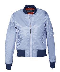 928JW - Women's Nylon Flight Jacket (Ice Blue)