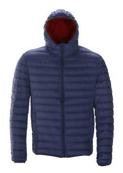 Navy Nylon Down Jacket