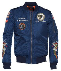 9629 - Men's Nylon Flight Jacket With Patches