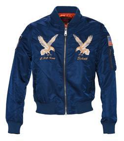 9722 - Men's Nylon Flight Jacket (Navy)