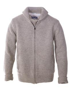 F1522 - Shawl Collar Sweater Jacket