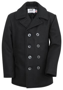 740 - Classic 32 Oz. Melton Wool Navy Pea Coat
