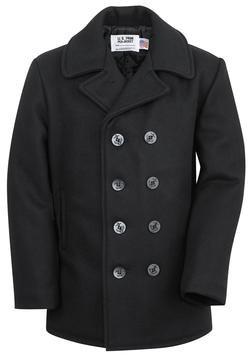 740 - Classic 32 Oz. Melton Wool Navy Pea Coat