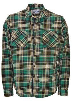 SH1463 - Medium Weight Plaid Work Shirt (Green)