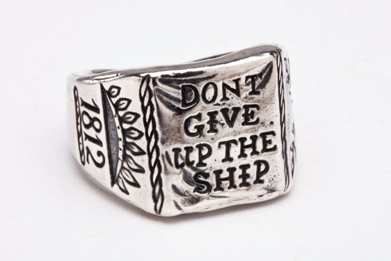 RSHIP - Digby & Iona Don't Give Up The Ship Ring (Silver)
