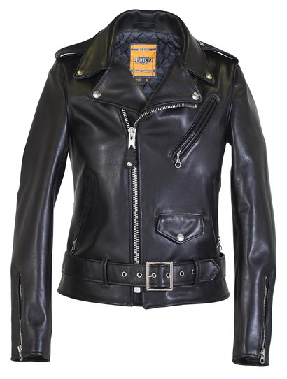 Womens Leather Motorcycle Jacket-7495