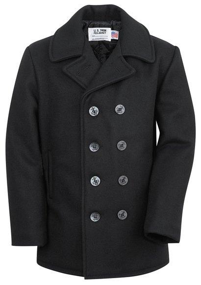 Long Pea Coat (front)