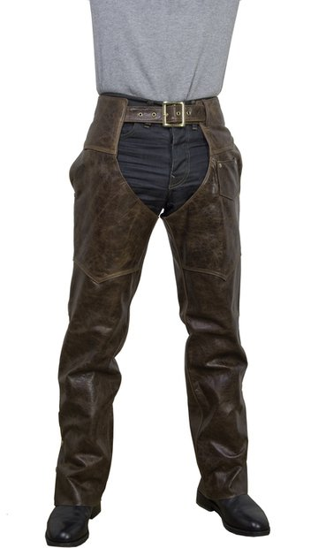 551 - Cowhide Leather Motorcycle Chaps