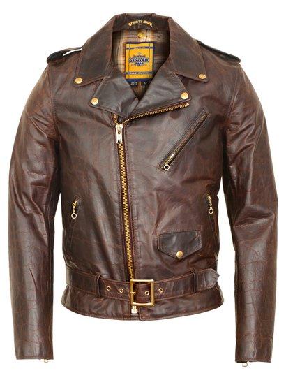 Rjava motorna jakna Perfecto-6409
