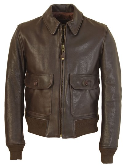 FLT7 - G–1 Flight Jacket in Naked Pebbled Cowhide Leather