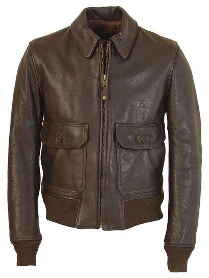 FLT7 - G–1 Flight Jacket in Naked Pebbled Cowhide Leather