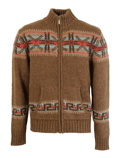 SW1368 - Wool Blend Zip Front Convertible Collar Cardigan